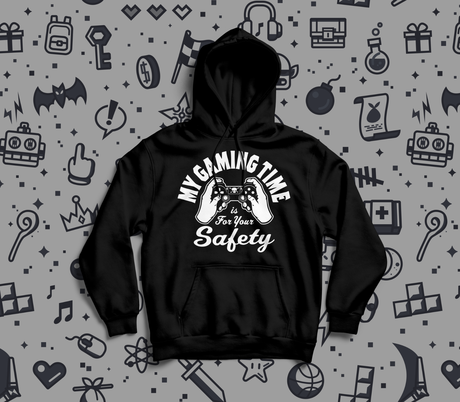 My Gaming Time Is For Your Safety Hoodie Christmas Birthday Gift Present Funny