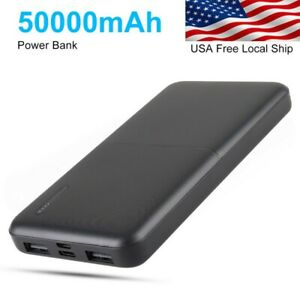 50000mAh Power Bank Type-C Micro input Portable Charger For IPhone Fast Charge