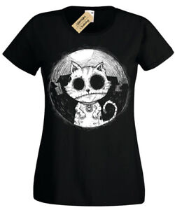 Zombie-Cat-Ladies-T-Shirt-goth-rock-burton-halloween-kitty-undead-womens-top