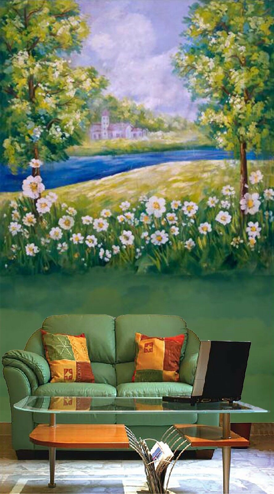 3D Grassland river 267 Wall Paper Wall Print Decal Wall Indoor Murals Wall US