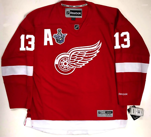 super popular 9936c e4dda Details about PAVEL DATSYUK DETROIT RED WINGS 2008 STANLEY CUP REEBOK  PREMIER HOME JERSEY