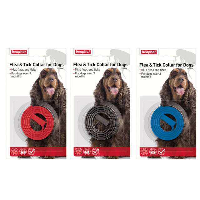 Beaphar Flea Tick Collar Dogs Plastic Kills Fleas Ticks Prevents 4 months