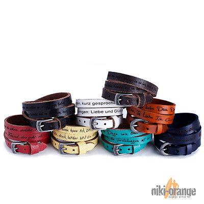 niki-orange® Ocean Lederarmband mit Gravur Armband Leder Armbänder Gravurarmband