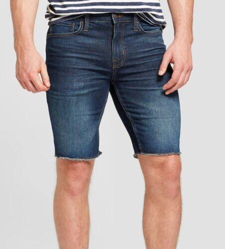 "NEW GOODFELLOW /& CO Men/'s 10.5/"" Slim Fit Jean Shorts-Dark wash blue denim 38 40"