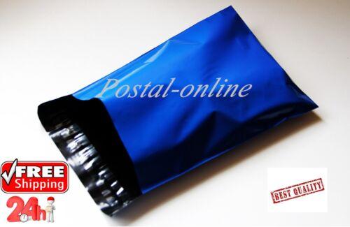 10x Plástico Azul Bolsa Para Envíos 13 x 19 13x19 330x485 mm GRANDE 10x sobres