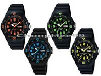 New CASIO Mens MRW200H Resin Band Dive 100m Sport Watch Analog Rotatable Bezel