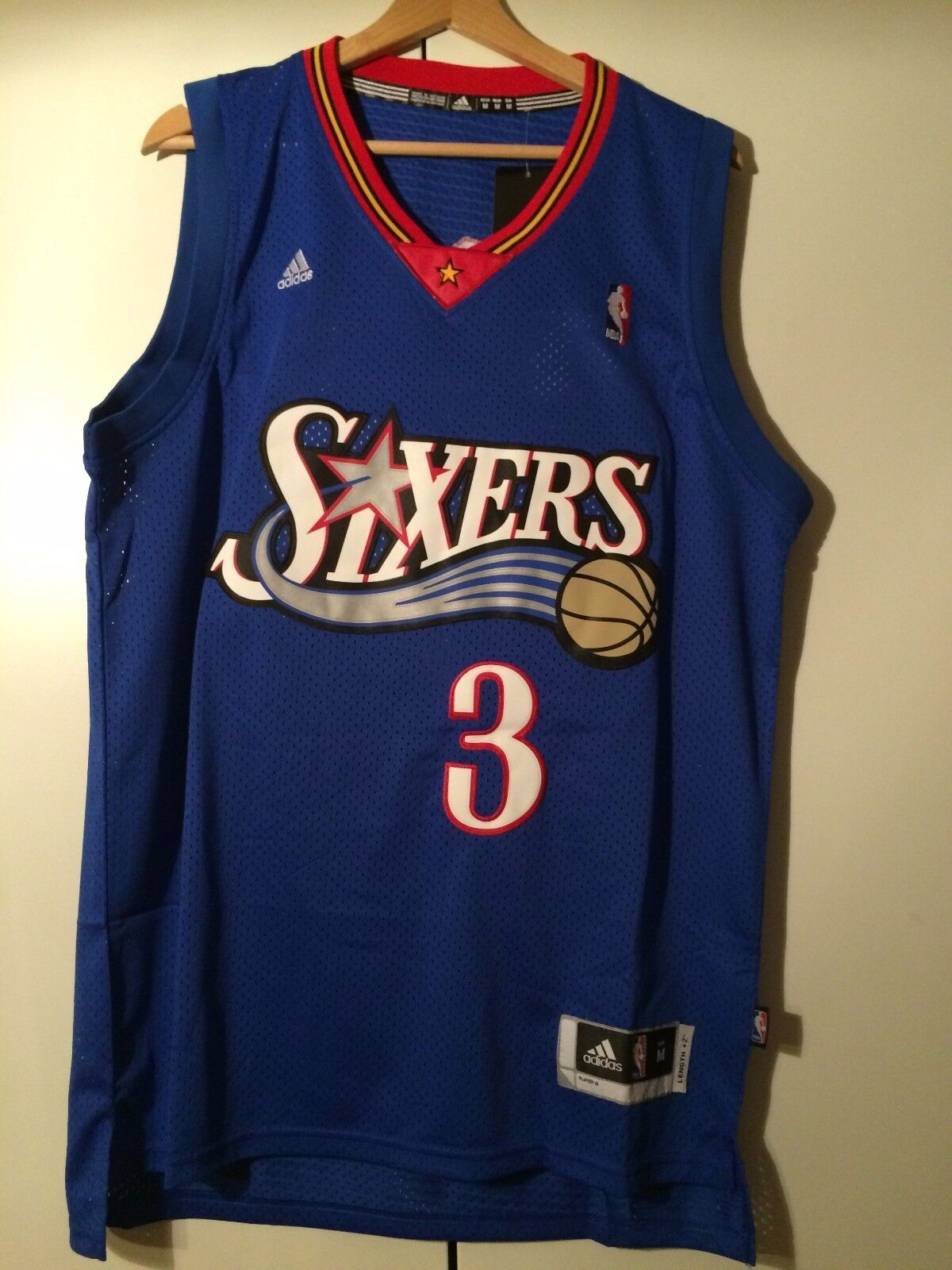 Tank top nba basketball Allen Iverson jersey shirt Philadelphia 76ers S   M L XL