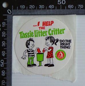 VINTAGE-HELP-DO-THE-RIGHT-THING-TASMANIA-AUSTRALIA-ADVERTISING-PROMO-STICKER