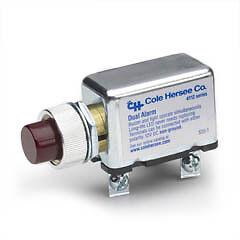 Cole Hersee 4112RC 4112RC-BX Dual Pilot Light Buzzer Alarm Combo 12V DC
