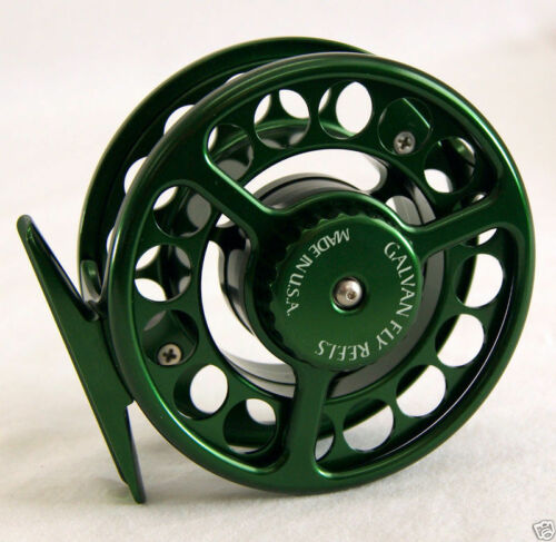 GALVAN RUSH LIGHT LT R-6 FLY REEL GREEN FOR 6//7 WT ROD MADE IN USA FREE $85 LINE