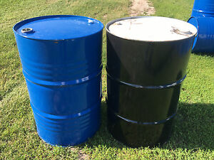 how to clean out a 55 gallon oil drum