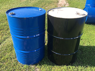 55 gallon metal barrels with removeable top PICKUP ONLY