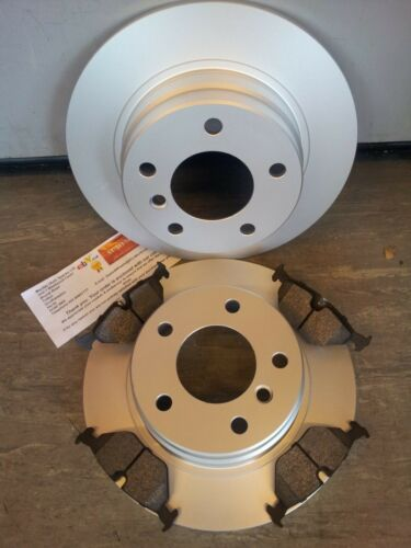 E46 316 318 REAR SOLID BRAKE DISCS AND PADS NEW COATED DESIGN BMW
