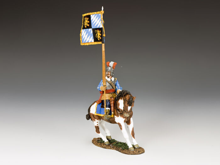 King and Country Royalist Mounted Flagbearer, The English Civil War PnM059
