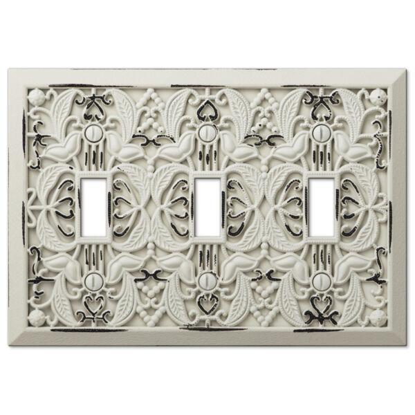 Arabesque Filigree Antique White Switch Plate Outlet Cover Wall Plates Hover To Zoom