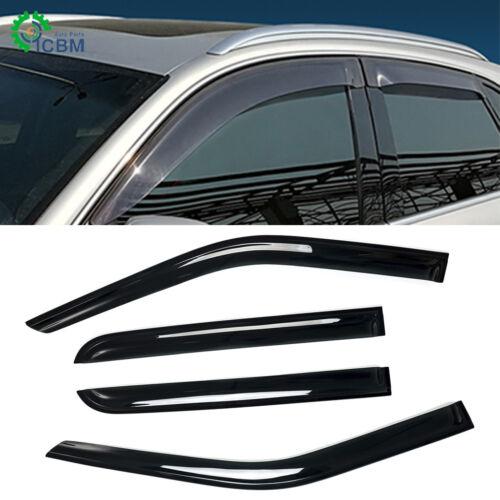 For 2015-2019 Ford F150 Crew Cab Wind Rain Deflector Sun Rain Shade Window Visor