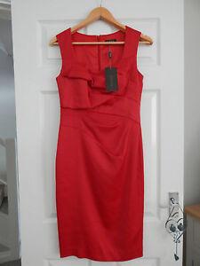 BNWT-ALEXON-BRIGHT-RED-LINED-DRESS-8-RRP-99