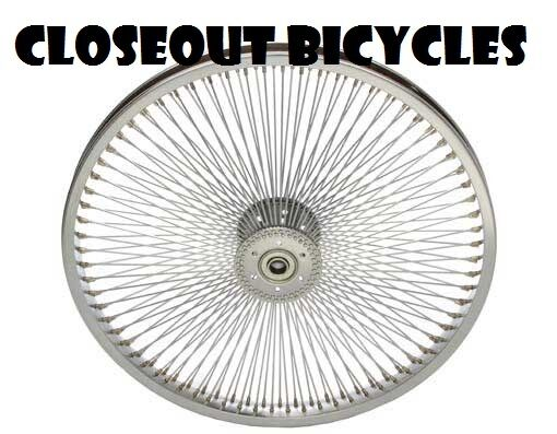 """24/"""" 144 Spoke Bicycle Front Wheel 14G Chrome Lowrider Cruiser Vintage Tricycle"""