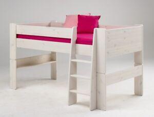 Etagenbett Modern : Etagenbett kinderbett halbhohes bett leiter weiss stockbett modern