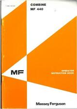 MASSEY Ferguson mf440 combinare MF 440 operatori manuale