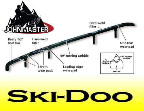 "4/"" SnowStuds MAGNUM Carbide Runners skags FLEX SKI Skidoo Formula Mach 1 Z MXZ"