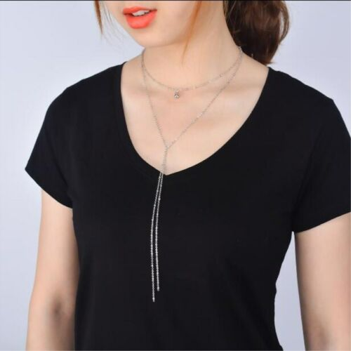 Multi-Layer Long Chain Bead Women/'s Ladies Charm Necklace Jewelry Gifts