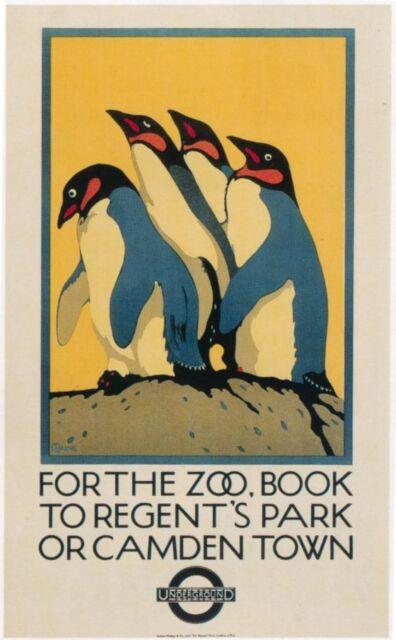 London Underground - Zoo 1921 LU034 Art Print Poster A4 A3 A2 A1