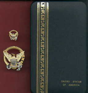 US Coast Guard Command at Sea set of badges in case