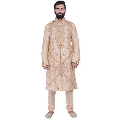 Ethnic Men/'s Indian Bollywood Kurta Sherwani 2pc Costume expédition dans le monde entier