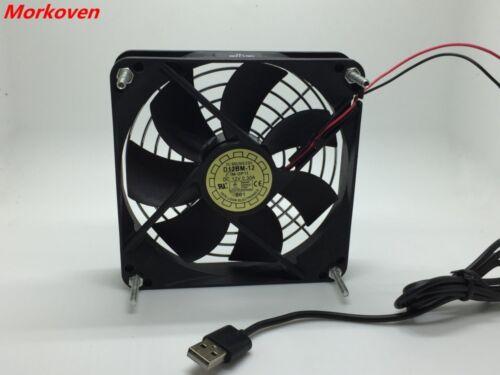 TV Box Router Cooling Fan Silent 120mm 5V USB Power Quiet Cooler 12CM Silent