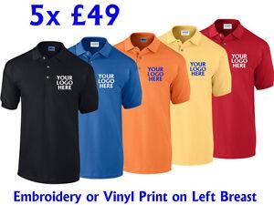 Printed Polo Shirts Custom Embroidered Polo Shirts Unisex