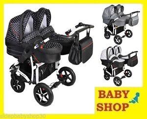 Dorjan Danny Sport 5 Twin wózek bliźniaczy luxury stroller pram kinderwagen