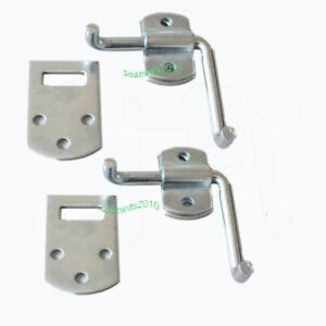 2-Corner-Latch-Bracket-Set-Utility-Trailer-Wood-Security-Rack-Stake-Body-Gate