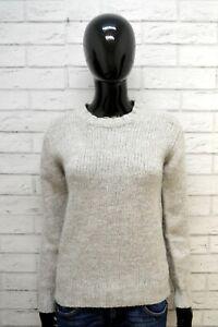 Maglione-PEUTEREY-Donna-Taglia-M-Pullover-Cardigan-Sweater-Woman-Lana-Grigio