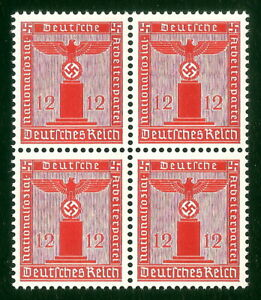DR-Nazi-3rd-Reich-Rare-WW2-Stamp-Hitler-Swastika-Eagle-NSDAP-Oficial-Service-War
