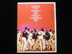 1970 ALCS Minnesota Twins vs. Baltimore Orioles Program EX+