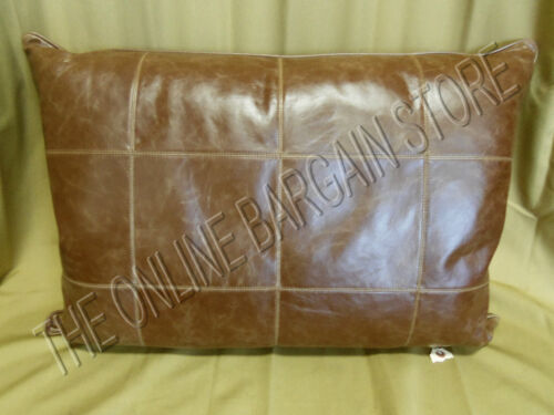 Frontgate Griffith Indoor Leather Sofa Chair Throw Pillow Oblong 21x30