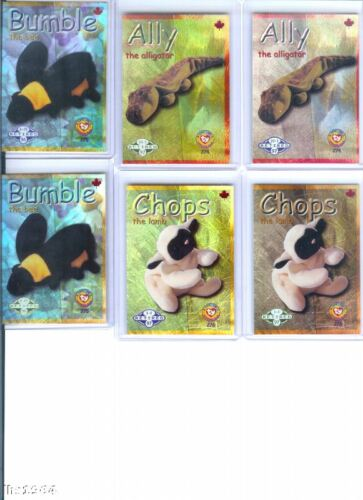 Ty S2 Beanie Card Retired BUMBLE BEE BLUE CANADA
