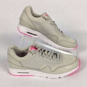 picked up classic styles best website Nike Air Max 1 Ultra Essentials Womens 9.5 Light Grey Pink 704993 ...