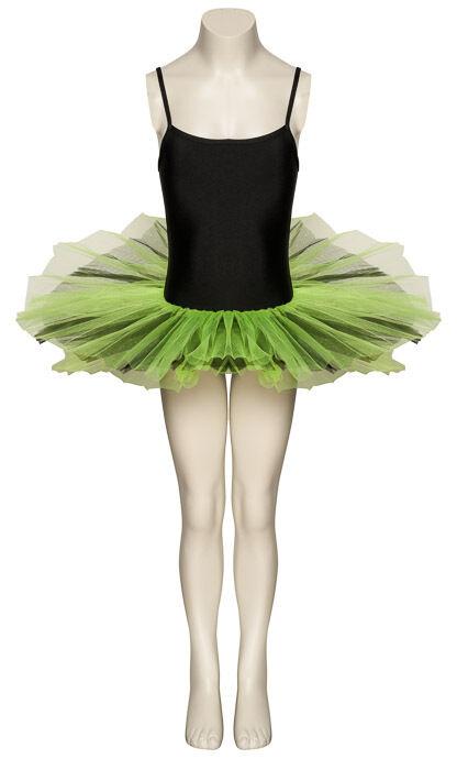 Black & Green Fancy Dress Halloween Dance Tutu Outfit Costume All Sizes By Katz