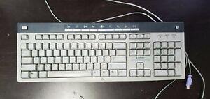 HP-White-Keyboard-Wired-KB-0228-Windows-Microsoft-for-Computer-School-Desk-Work