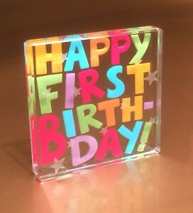 Image Is Loading Happy First 1st Birthday Gift Ideas Spaceform Glass