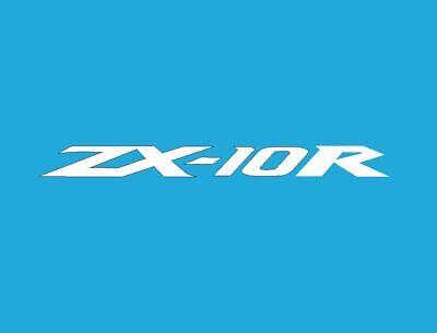 2 x ZX-10R Motorrad Aufkleber • Sticker • Chrom Gold • Schriftzug Kawasaki Ninja