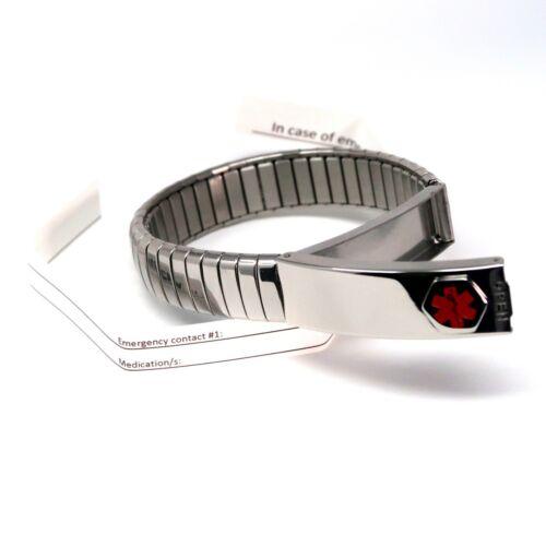 Fibromyalgia Emergency ID Medical Alert Bracelet ICE SOS Emergency Identity Band
