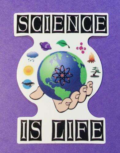 Science Is Life Geek Nerd Skateboard Laptop Cell Phone Decal Sticker