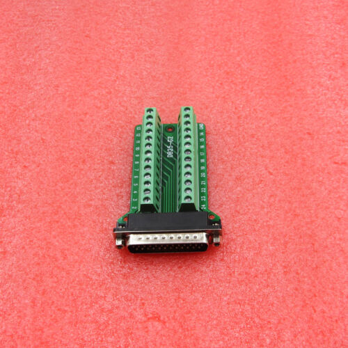 Connector DB25 D-SUB Male Adapter Plate RS232 to Terminal Breakout Board