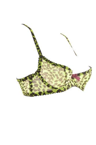 Sujetador Agent Bcf88 suave de leopardo Provocateur con estampado Playr para £ Green Rrp mujer 143 q5ax5p1