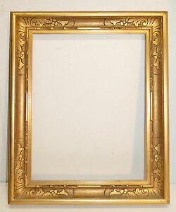 Stunning-Carved-Corner-Etched-Gilded-French-Nouveau-Frame-22-1-4-x-17-1-2