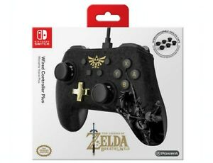 NEW-PowerA-Nintendo-Switch-Wired-Controller-Plus-The-Legend-of-Zelda-Black-Gold