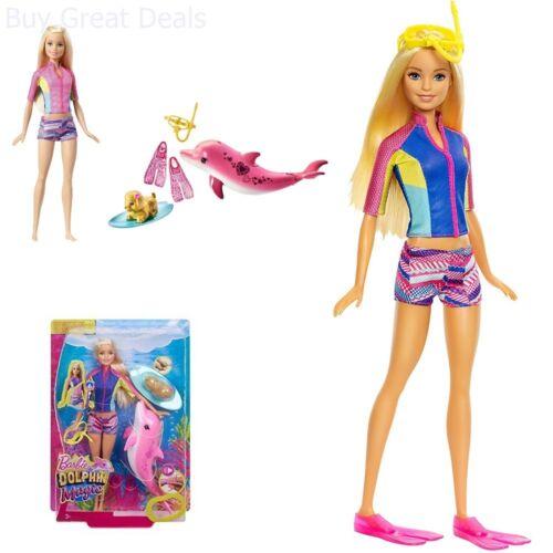 Barbie Dolphin Magic Snorkel Fun Friends Playset Kid Doll Toy Girl Gift Set